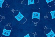 تصویر از چطور الکل ۹۶ تا ۹۹ درصد را به الکل ۷۰ درصد برای ضدعفونی کردن تبدیل کنیم؟