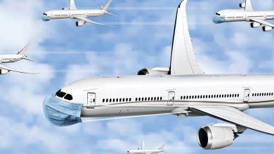 تصویر از میزان خطر سرایت کووید-۱۹ در سفرهای هوایی