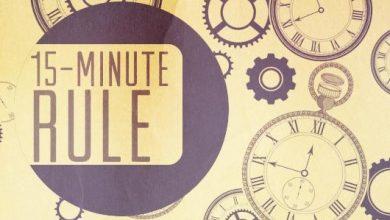 تصویر از قانون ۱۵ دقیقه و خرده عادتهای موثر
